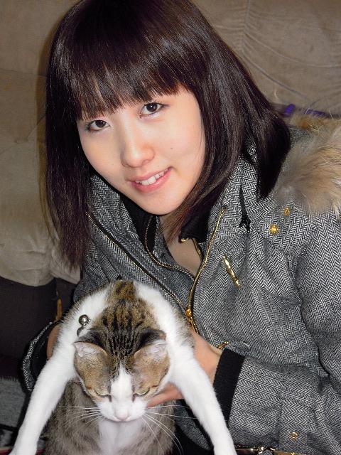 麗美ちゃんと猫